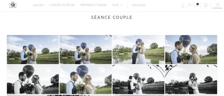 Par le biais d'une galerie privée garder toujours vos photo mariage près de vous